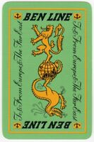 Playing Cards Single Card Vintage BEN LINE Shipping Advertising DRAGON + LION 1