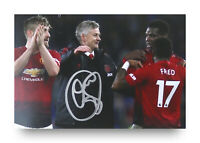 Ole Gunnar Solskjaer Signed 6x4 Photo Manchester United Manager Autograph + COA