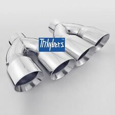 """1 pair Staggered exhaust tips 3"""" inlet dual 4"""" outlet for Camaro Trans Am"""
