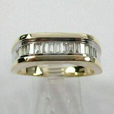 1 Ct Baguette Cut Diamond Men Engagement Wedding Band Ring 14k Yellow Gold Over