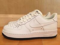 NIKE AIR FORCE 1 LOW WHITE NAVY BLUE OBSIDIAN GS KIDS SZ 4-7 Y  314192-912 A