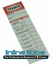1964-81 TEXACO Gas Service Station Oil Change Door Jamb Decal Sticker Mileage OE