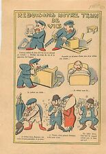 Caricature Politique Réduction Train de Vie Meubles Chaises Table Lit Veste 1936