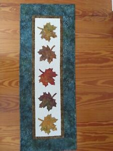 HANDMADE, QUILTED TABLE RUNNER