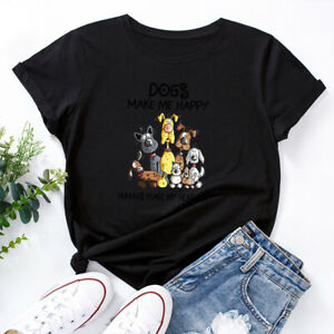 Loose Short Sleeved Unisex Puppy Printed T-Shirt