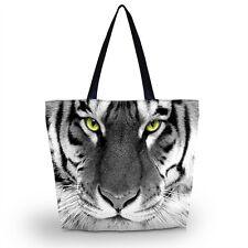 Tiger Foldable Women Shopping Tote Shoulder Bag Handbag Outdoor Travel Satchel