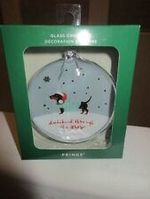 Dachshund Through the Snow Christmas Holiday Glass Ornament Sweater Dog NEW