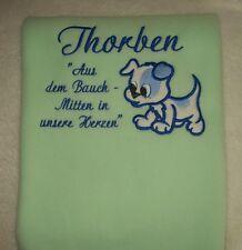 Decke Babydecke mit  Namen und persönlichen Daten