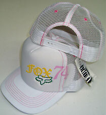 "FOX RACING GIRLS SQUARED WOMEN'S/GIRL'S TRUCKER MESH SNAPBACK HAT CAP ""U PICK"""