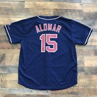 Cleveland Indians Sandy Alomar Jr Adult Mens XL Baseball Jersey Promo Shirt 90s