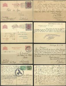 NETHERLANDS ps 1921-1941 Lot of 4 used Postal Stationery Cards