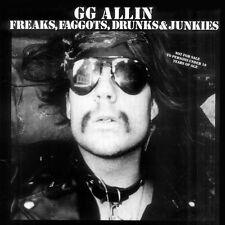 Freaks Faggots Drunks & Junkies - Gg Allin (2008, Vinyl NUEVO)