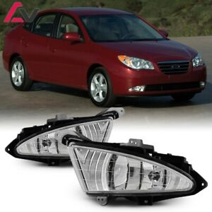 For Hyundai Elantra 07-10 Clear Lens Pair Fog Light Lamp+Wiring+Switch Kit
