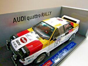 Sun Star 1:18 Scale Diecast Audi Quattro Lombard RAC Rally 1982 Demuth / Daniels