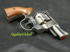 "ITALY REAL WOOD & METAL 2.5"" MOVIE PROP Pistol Replica Hand Gun Training .38 S&W"
