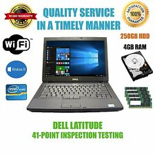 "Dell Latitude E6410 14"" Laptop Core i5-M520 2.4GHz 4GB 250GB HD Win10 Pro"