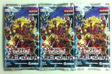 3x YuGiOh TCG Number Hunters 5cd Booster Pack English 1st Edition Factory Sealed
