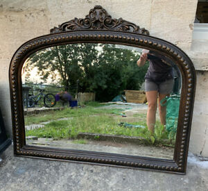 Paris Overmantel Mirror Bronze Crackle