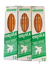 Dixon Oriole Vintage Pencils NIB 12872 Three Boxes
