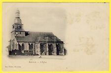 cpa Dos 1900 MARVILLE (Meuse) L' ÉGLISE du VILLAGE Roulotte Ed. PIERROT Montmédy