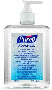 PURELL Advanced 70% Alcohol Hand Sanitizer Pump Top Bottle (1x 500ml Bottle)