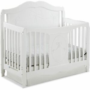 Storkcraft Princess 4 in 1 Convertible Baby Crib, White