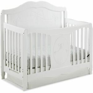 Storkcraft Princess 4 in 1 Convertible Baby Crib, White