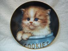Hamilton Collection Limited Edition Plate ' Ginger Snap ' by Qua Lemonds