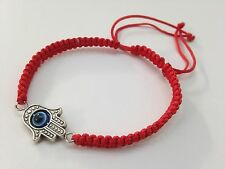 Bracelet for protection fatima hand and Turkish eye. is adjustable red thread