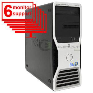Dell Precision T5500 6 Monitor Trading PC Quad Core 2.13GHz 6GB 500GB HDD NVS290