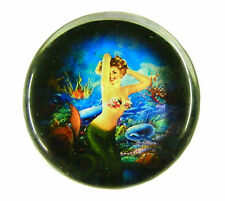 Vintage Style Paperweight 60mm 2 & 1/4 inch Pinup Pin-Up Mermaid #1