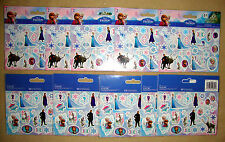 DISNEY FROZEN STICKERS (1 Pack/2 Sheets) - LOT of 10 Birthday Party Favors!