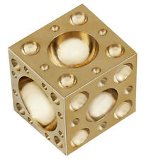 Metal Forming Jewelers Brass Dapping Block Used With Doming Punches