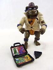 TMNT DONATELLO SPY UNDERCOVER DETECTIVE Action Figure 1990 2x accessories Turtle