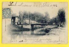 Carte Postale CLAYE SOUILLY en 1904 (Seine et Marne) PONT de la ROSÉE l'Ourcq