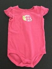Beautiful Gymboree IN FULL BLOOM   GUC One Piece Bright Pink With Snail 18-24