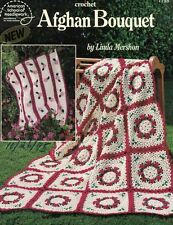 ASN Crochet AFGHAN BOUQUET Leaflet #1198 1994 Crochet Patterns