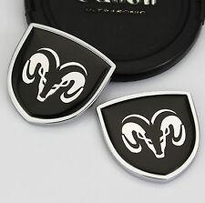 2pcs 3D Metall Auto Car Body Fenders Aufkleber Schild Embleme LOGO für Schwarz