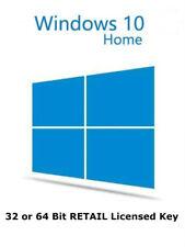 Microsoft Windows 10 Home 32 64 BIT RETAIL Genuine License Key Product Code
