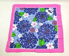 Vintage FORD Pink Breast Cancer Awareness Purple Chrysanthemum Flowers Bandana