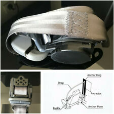 Retractable 3-point Car Safety Belt Seat Strap Buckle Metal Plate For Truck SUV