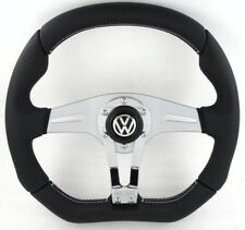 Genuine MOMO Trek R 350 mm volante in pelle nera con pulsante VW Horn.