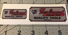 Herbrand Quality Tools Fremont, Ohio Decals Set of 2, decals only 2� & 3�