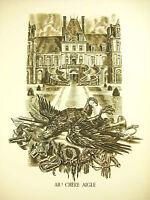 """Napoleón Bonaparte """"Ah! Estimado Águila Fontainebleau discurso 20 Abril 1814"""