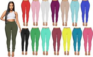 NEW WOMENS HIGH WAISTED SKINNY JEANS RIPPED LADIES JEGGINGS KNEE PLUS SIZE 8-26