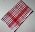5 x tea towels striped cotton kitchen dishcloths Large 45 x 70 red, green, blue