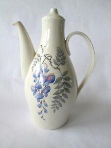 Rare Eva Zeisel Castleton China Mid Century White w Wisteria Coffee Pot USA MCM