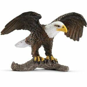"""Schleich 14780 Bald Eagle Toy Figure, Brown, 3""""x3"""""""