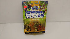 Cyber Force Mega Heroes Battle Stryker and Buzzcut figures, New!