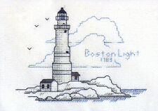 Hilite Counted Cross Stitch Kit ~ Historic Lighthouse Boston Light, MA #240